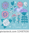Set of floral elements isolated for your design. 32487636