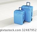 Blue travel bags 32487952