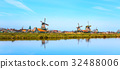 Panorama with windmills in Zaanse Schans 32488006