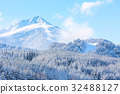 travel ski background with slopes, snow mountain 32488127