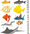 Water Life Cartoon Set 32488680