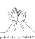 手 一起 向量 32489477