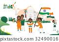 india, people, cartoon 32490016