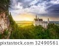 Neuschwanstein Castle in Bavarian Alps, Germany 32490561