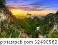 Neuschwanstein Castle in Bavarian Alps, Germany 32490562