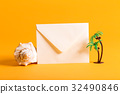 Summer envelope travel postcard theme 32490846