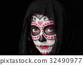 skull halloween face 32490977