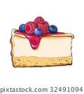 cheesecake, cake, vector 32491094
