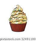蛋糕 紙杯蛋糕 向量 32491100