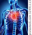 3D illustration of Heart, medical concept. 32491113