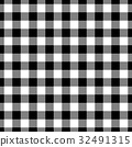 Lumberjack plaid pattern in black and white 32491315
