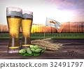 beer consumption in Cyprus. 3D render 32491797