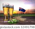 beer consumption in New Zealand. 3D render 32491798