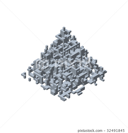 Abstract 3d construction in form of pyramid.  32491845