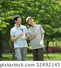 Golf Middle ภาพคู่กีฬาสนามกอล์ฟ 32492145