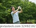 高尔夫 高尔夫球手 中年 32492182