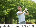 高尔夫 高尔夫球手 中年 32492193