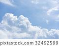พายุฝน,ท้องฟ้าเป็นสีฟ้า,ท้องฟ้า 32492599