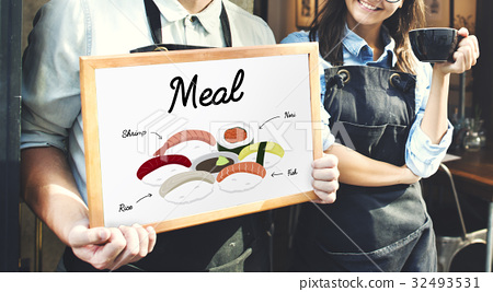 Japanese Food Meal Menu Concept 32493531