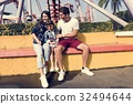 Family Holiday Vacation Amusement Park Togetherness 32494644