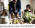 adult, bride, cake 32495007