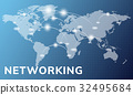 Network connection graphic overlay background 32495684
