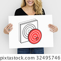 Target Dart Board Arrow Application Vector Graphic 32495746