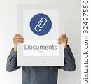 Paper Clip Mail File Attachment Graphic 32497556