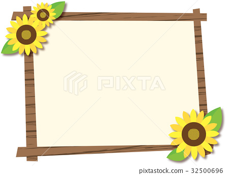 frame, wooden frame, summer - Stock Illustration [32500696] - PIXTA