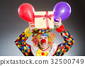 Funny clown in comical concept 32500749
