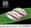 アジの寿司のリアルイラスト|握り寿司 32500884