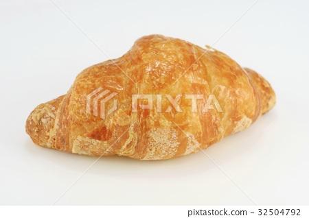Croissant bread White background 32504792