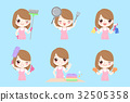 cute cartoon housewife 32505358