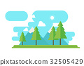 Nature landscape with forest and mountain  32505429