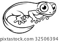 Newt or Salamander Cartoon Character 32506394