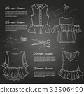 Set of woman casual clothes 32506490