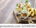 香蕉 布丁 甜食 32506583