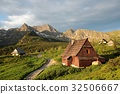 Cottage in a valley surrounded by Tatra Mountains 32506667