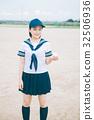 นักเรียนมัธยมปลาย,ลูกเบสบอล,เด็กผู้หญิง 32506936