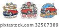 vector, vintage, sticker 32507389