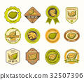Set of black and white vector badges, stickers 32507396