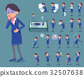 flat type Cabin attendant blue woman_sickness 32507638