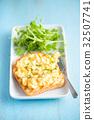Egg Salad Open Sandwich 32507741