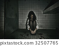 Ghost in Haunted House, Mysterious Woman. 32507765