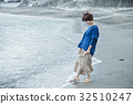 바다 산책 여자 모래 해안 여행 관광 해변 휴식 32510247