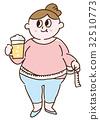 비만 여성의 일러스트 32510773