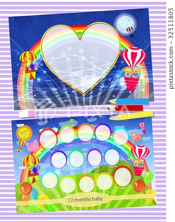 Photo frame rainbow. Children 32511805