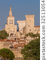 Avignon downtown with Popes Palace in Provence, FR 32513054