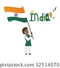 india, flag, boy 32514070