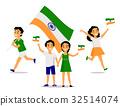 india, flag, people 32514074